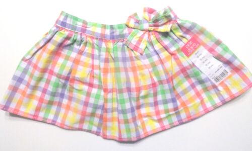 12 M 24M 6-9 M 18M Okie Dokie Infant Baby Girl Plaid Skirt Skort 3-6 Months