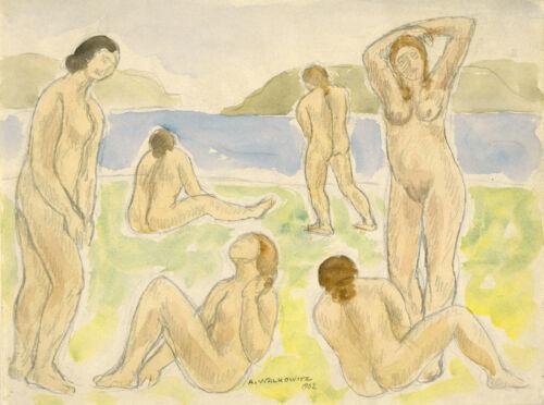 Abraham Walkowitz Reproduction Fine Art Print Bathers 1902