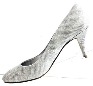 Call-It-Spring-Women-039-s-Silver-Sparkle-3-1-2-034-Heels-Shoe-Size-7-5