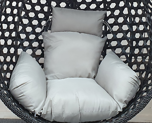Grey Rattan Hanging Egg Chair Cushion Indoor Outdoor Detached Pads Swing Chair Ebay