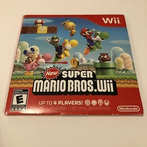 New-Super-Mario-Bros-Wii-DISC-w-Sleeve-TESTED-amp-WORKING-Nintendo-Wii-2009
