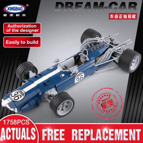 XINGBAO 03022 The Blue Racing Car Set Building Blocks Bricks Kids Toys Spielzeug