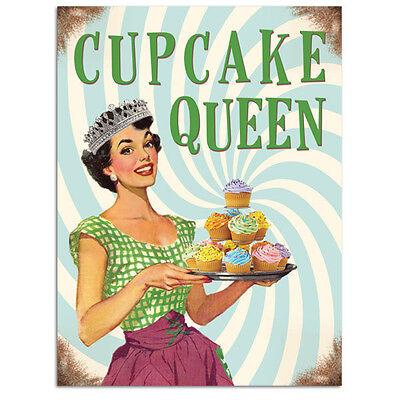Cupcake Queen, Kitchen Baking, Retro Funny 50s Pin-up Girl Novelty Fridge Magnet