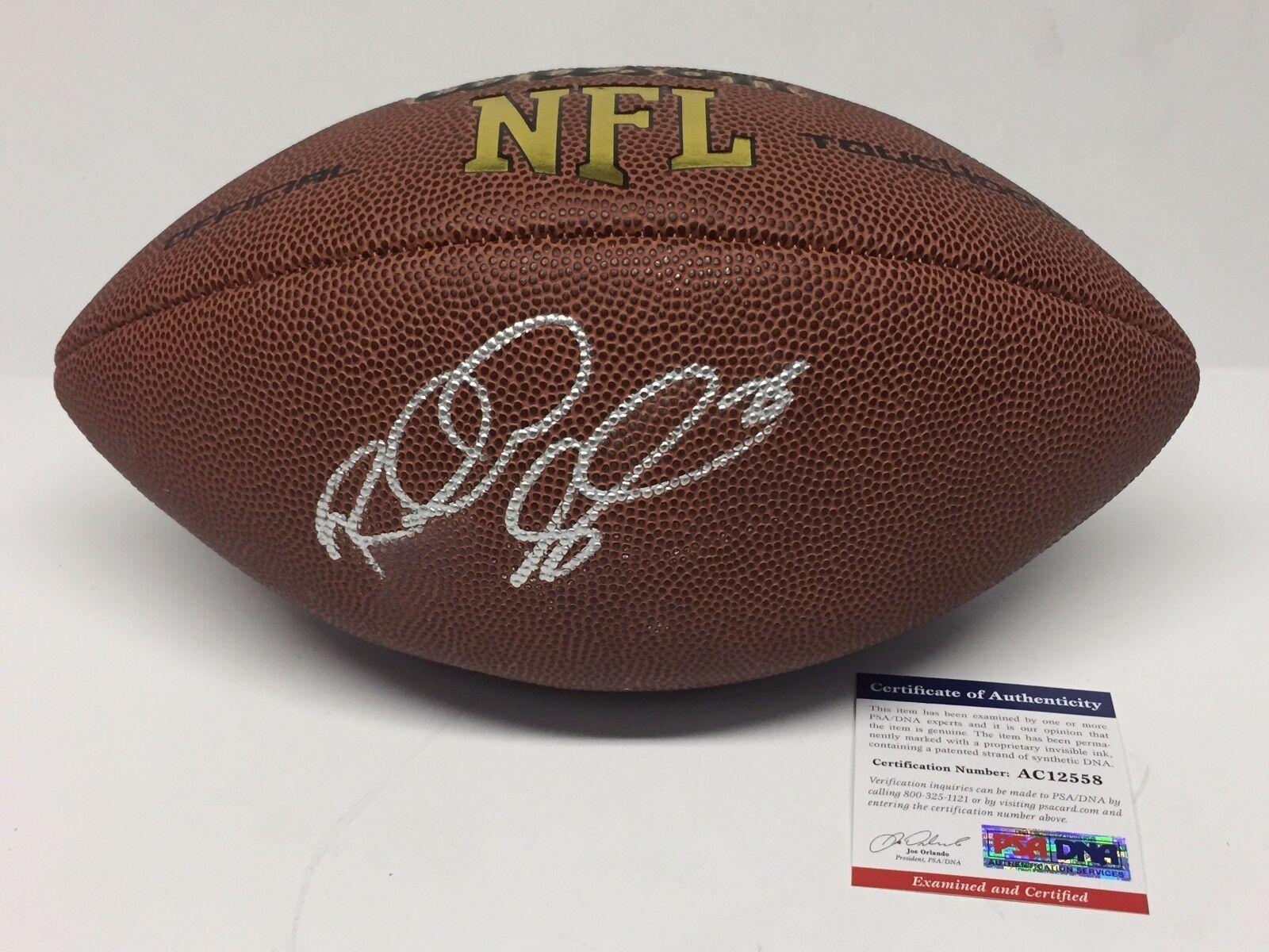 Richard Sherman Signed Wilson NFL Football PSA AC12558
