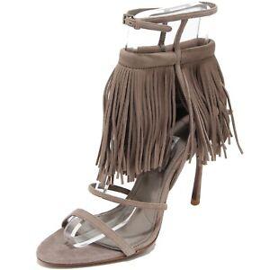 sports shoes d53a9 21812 Details about 8118I sandali donna MIU MIU frange scarpe sandals shoes women