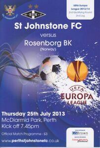 ST-JOHNSTONE-v-ROSENBORG-BK-EUROPA-LEAGUE-2013-14-MINT-PROGRAMME