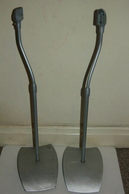 Pair of Alphason SS20 Surround Speaker Stands Silver