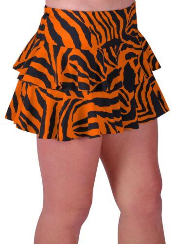 Womens Zebra Print Ladies Short Club Party Womens Girls Ruffle Mini Short Skirt