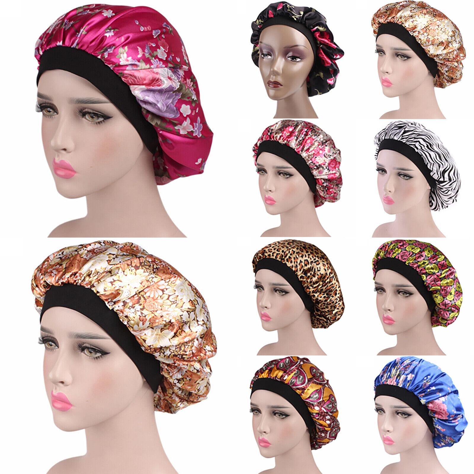 ! nuevo! Gorra de dormir de noche De Satén Fizzy Hair Care Bonnet dormir sombreros Cabeza Cubierta envolvente