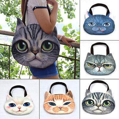Celeb Muchacha 3D Cat Head Face Animal Tote Bag Handbag Shoulder Bag