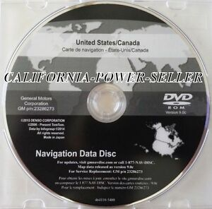 2016 Gm North America Navigation Dvd Map Update Gm P N 23286273 9 0