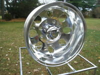4) 16 Chevy Gmc 3500 16 8 Lug alcoa Style Dually Polished Wheels W/ Lugs