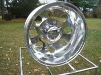 4) 16 Chevy Gmc 3500 16 8 Lug alcoa Style Dually Polished Wheels Wlug Nuts