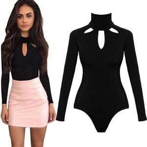 a7d14d11f2 Women Sexy Black short Jumpsuits Rompers long sleeve Jumpsuit S-XL ...