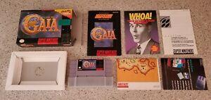 Illusion-of-Gaia-Super-Nintendo-SNES-Game-CIB-Complete-Box-Manual-Map-Poster-lot