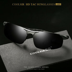 ad4e43cd10 Image is loading Polarized-Aluminium-HD-Sunglasses-Men -Cycling-Driving-Fishing-