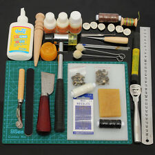Leather Craft Tool Kit Leather Hand Sewing Tool Punch Cutter DIY Set