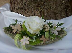 Tischgesteck Gesteck Landhaus Rustikal Natur Fruhling Tischdeko Rose