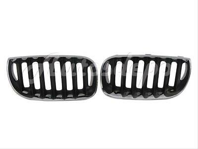 BMW E83 X3 X 3 Black Kidney M Sport Front Shadow Grilles Grill 04-06