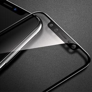 2x-3D-Panzer-Glasfolie-fuer-iPhone-XS-iPhone-X-Displayschutz-Panzerfolie-SCHWARZ