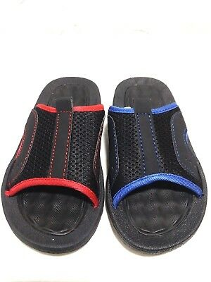 Adaptable Ot Revolution-youth Boys/girls Size11/12 13/1 2/3 Black/blue,black/red Sandals In Many Styles