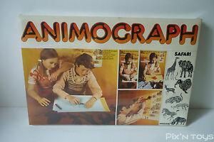 Jeu Vintage Animograph Safari Ref.4170 - type Spirograph / Meccano france S.A.
