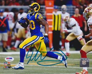 Todd-Gurley-Signed-8x10-St-Louis-Rams-Photo-Breakaway-Run-PSA-DNA-COA