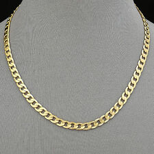 Men's Necklace 14K Gold Plated 6 mm Cuban Link Chain / Chapa de Oro