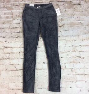 29a6b785f6dc8 Style Co Women Pants Leggings PP Grey Corduroy Mid Rise Elastic Pull ...