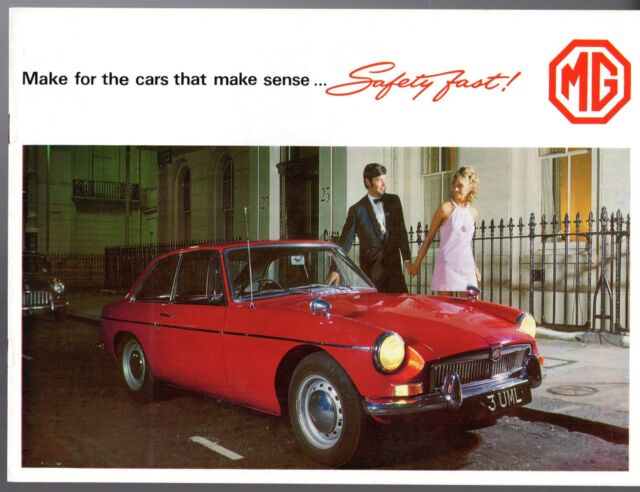 MG 1968-69 Original UK Market Sales Brochure Midget 1300 MGB MGC