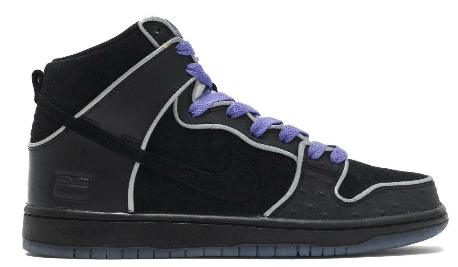 Nike DUNK HIGH ELITE SB Black White Purple Haze 833456-002 (639) Men's Shoes