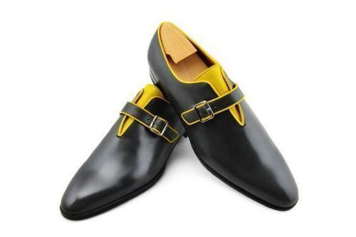 Hecho A Mano De Cuero Mocasines Clásico de dos tonos para hombre Hecho a Medida Hombres Zapatos