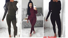 New Ladies Women's Sweatshirt Joggers Plain Lounge Wear Tracksuit Lounge Wear