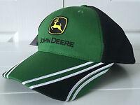 John Deere Green & Black Performance Hat Cap W Adjustable