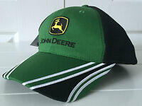 John Deere Green & Black Performance Hat Cap W Adjustable