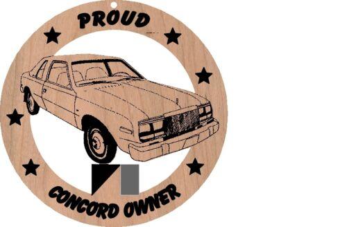 AMC Concord 2 dr Sedan Red Alder Wood Ornament Laser Engraved