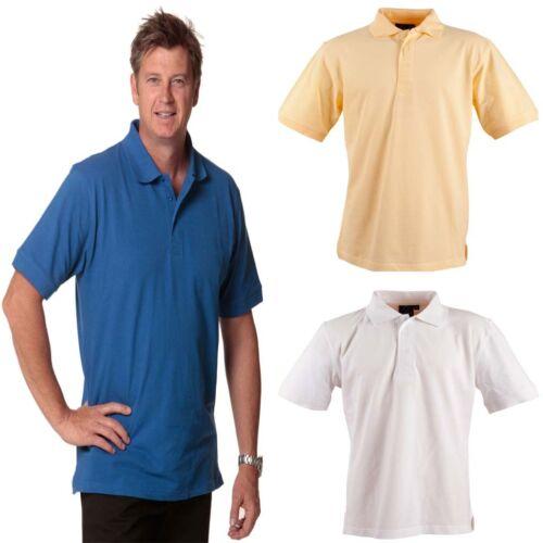 NEW MENS LONGBEACH COTTON SHORT SLEEVE POLO TSHIRT WORK CASUAL DRESS SHIRT TOP