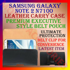 ACM-BELT CASE for SAMSUNG GALAXY NOTE 2 N7100 LEATHER CARRY CASE POUCH COVER NEW
