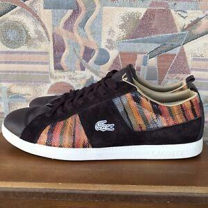 Lacoste-Observe-Elements-L56-Men-039-s-Sneakers-Size-12-Brown
