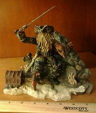 Disney Pirates of the caribbean Davy Jones Book end Statue Figure Treasure Chest