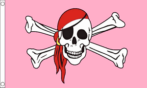 PIRATE SKULL /& CROSSBONES WITH EYE PATCH FLAG NEW SAILOR PARTY 5 X 3 FT