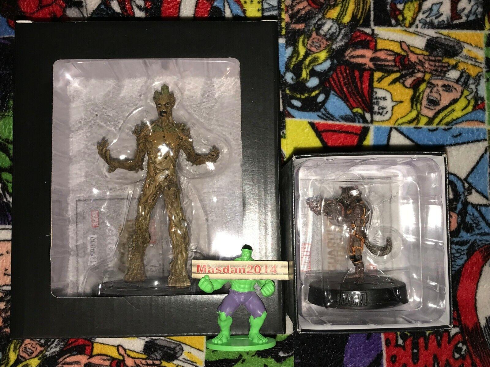 Rocket Raccoon & Groot Bundle - Marvel Movie Collection Figurine New Eaglemoss.