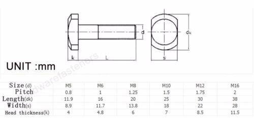 840pcs M5 *12 304 T Bolt for T-Slot T Head Slot Bolt hammer head Screw