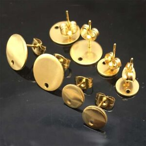 Gold-Round-stainless-steel-earrings-connector-findings-diy-stud-earring-posts