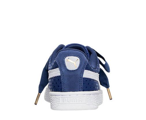 Authentische puma basket herz denim denim denim twilight, blau - weiße 36337101  (001) frauen größe f12c47