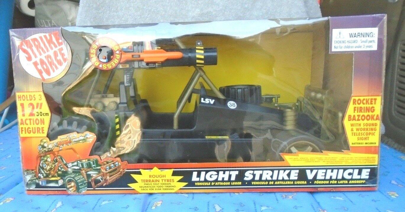 Vintage Strike Force 12  Action Figure Light Strike Vehicle New in Sealed Box