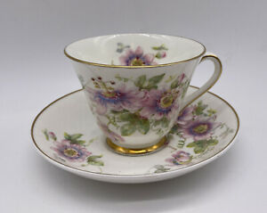 Royal-Doulton-Passion-Flower-Cup-And-Saucer-Set-Vintage-Bone-China-England