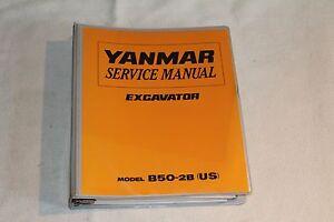 yanmar b50 2b service manual ebay rh ebay com  Yanmar B37