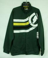 Ecko Unltd Unlimited Men's 2xl Green Full Zip Rhino Track Jacket Coat