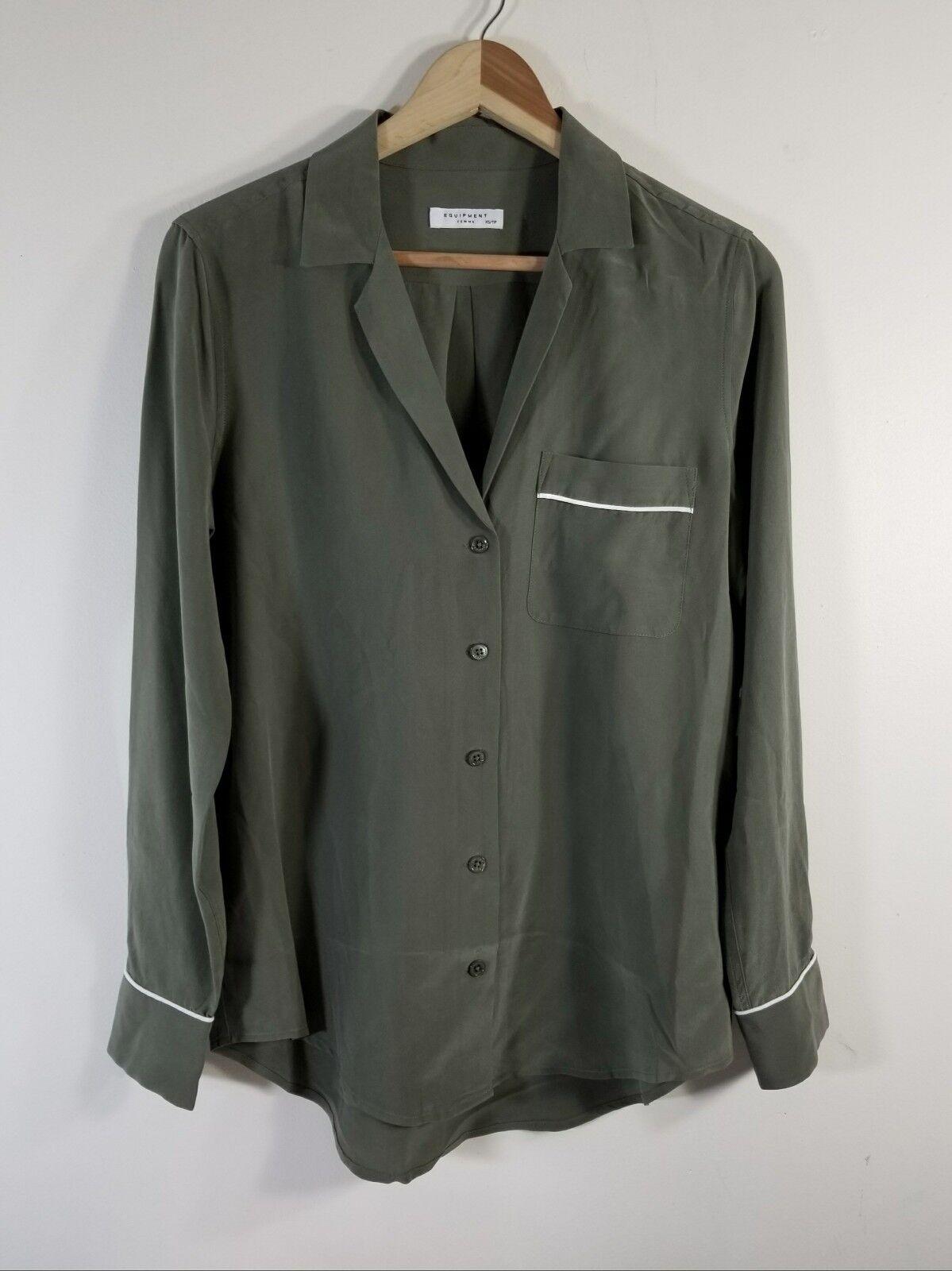 NWT Equipment Keira Silk Shirt Four Leaf Clover Größe XS 218